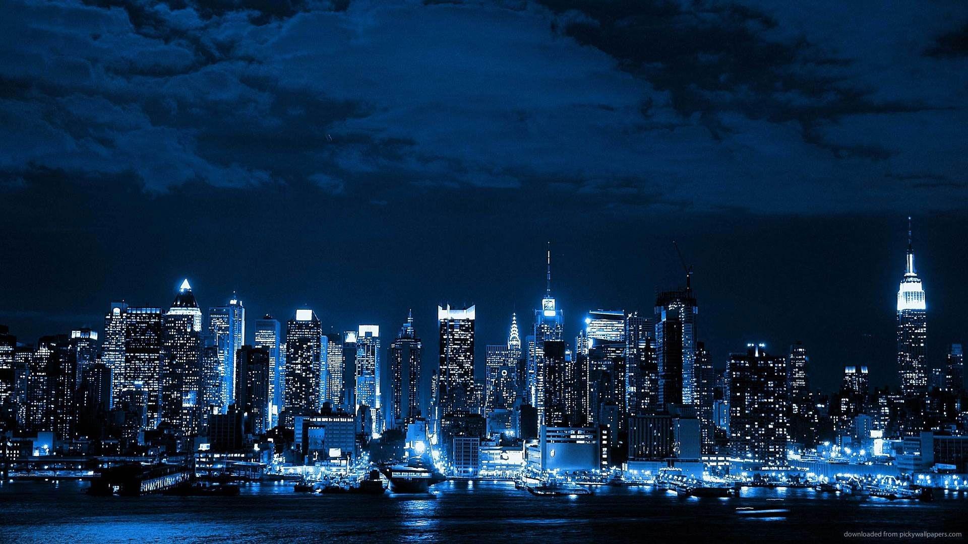 hd pics photos blue neon city desktop background wallpaper   only hd