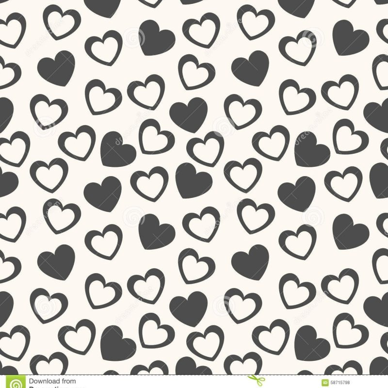 10 Best Black And White Hearts Background FULL HD 1080p For PC Background 2020 free download heart shape seamless pattern black and white stock illustration 1 800x800