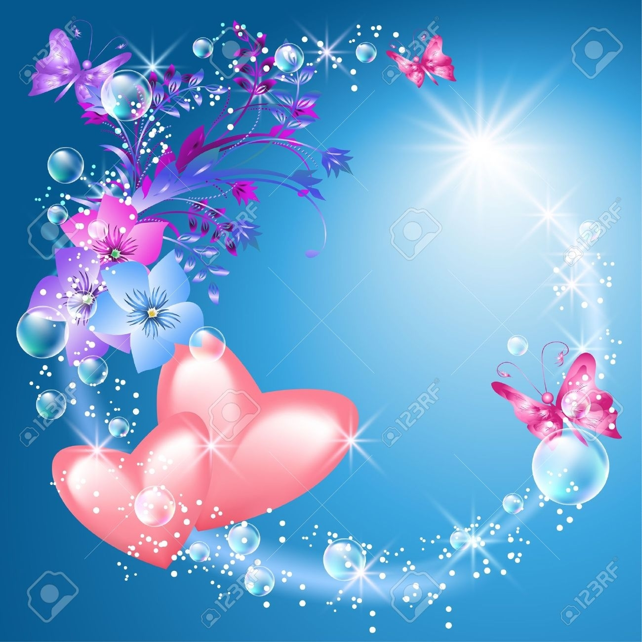 hearts and flowers background - google search | 1 hearts&love