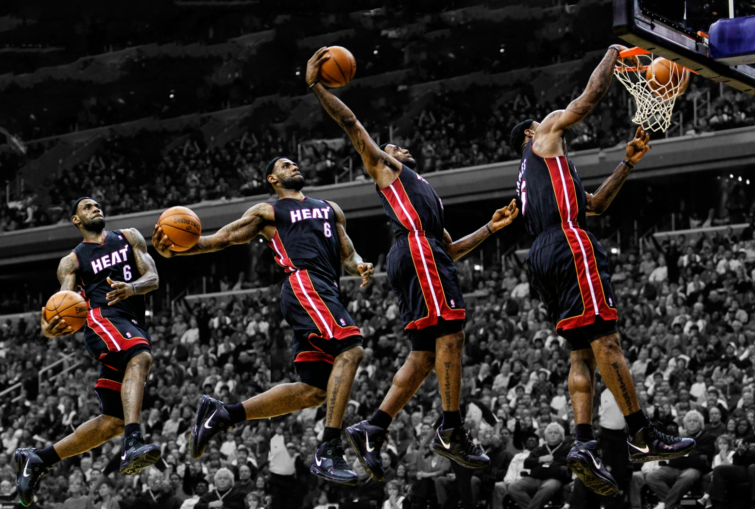 heat nation videos: all 141 lebron james dunks from 2013-2014 - heat