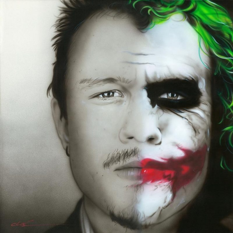 10 Top Heath Ledger Joker Image FULL HD 1920×1080 For PC Background 2020 free download heath ledger joker paintingchristian chapman art 800x800