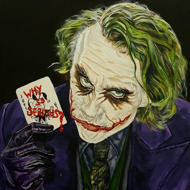 10 Best Heath Ledger Joker Pictures FULL HD 1080p For PC Desktop 2020 free download heath ledger the joker paintingdavid peninger 800x800