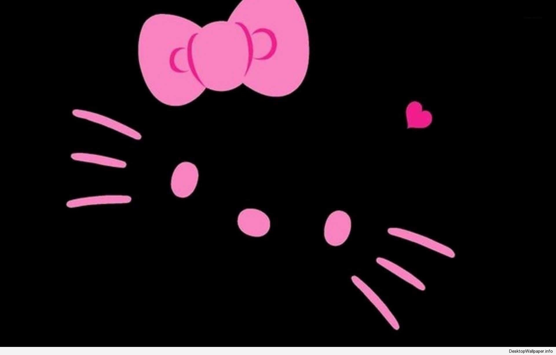 hello kitty wallpaper pink and black | desktop wallpapers