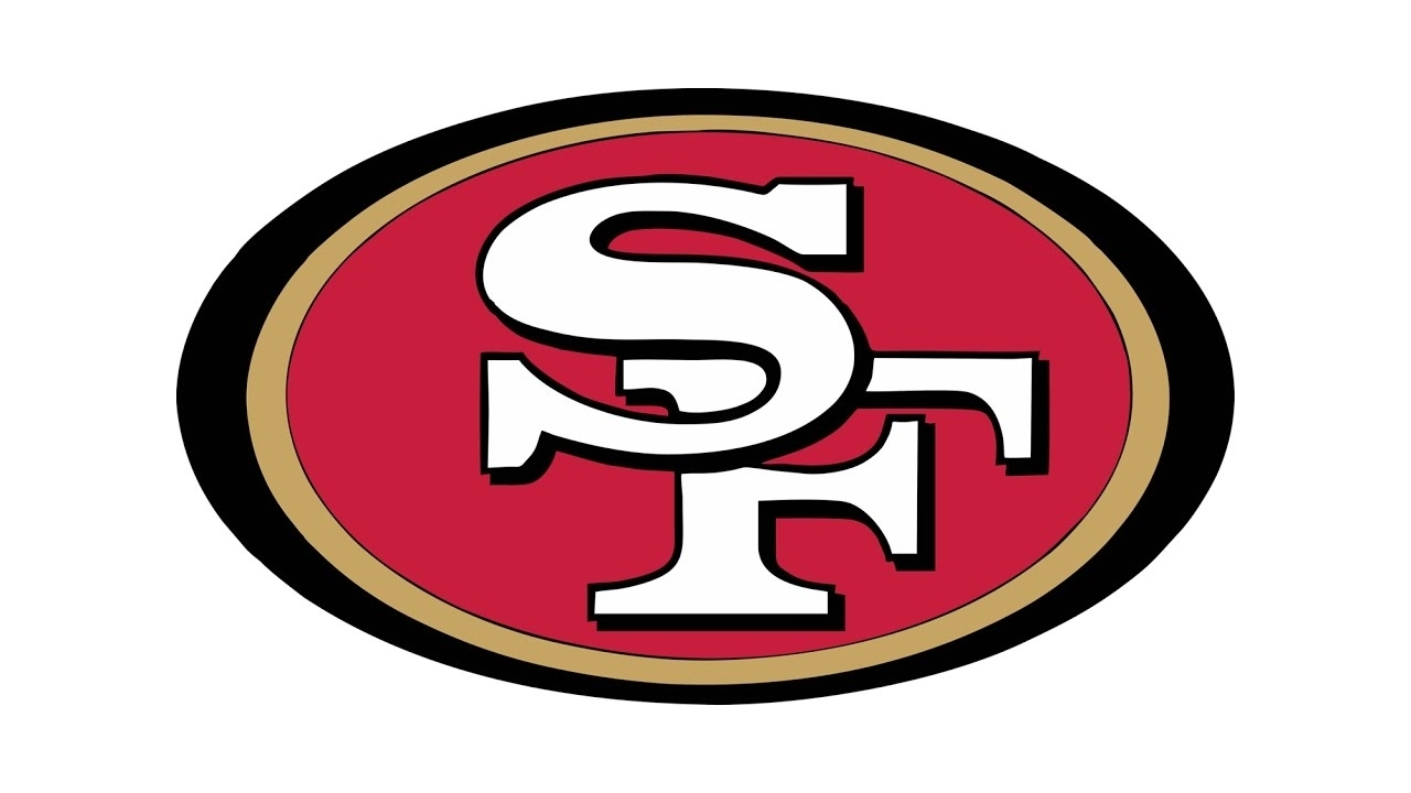 how to draw the san francisco 49ers logo (nfl) - youtube