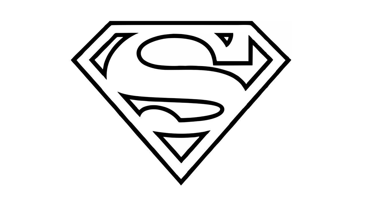 how to draw the superman logo (symbol) - youtube
