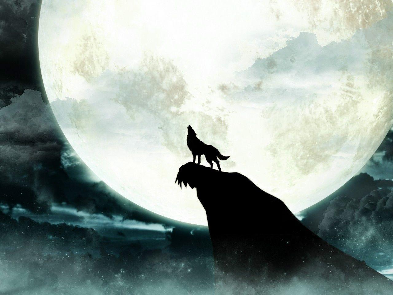howling wolf moon wallpaper | wolves | pinterest | wolf moon, wolf