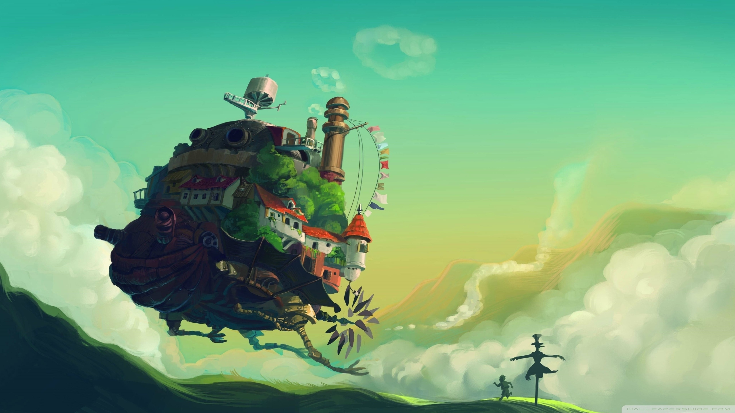howl's moving castle ❤ 4k hd desktop wallpaper for 4k ultra hd tv