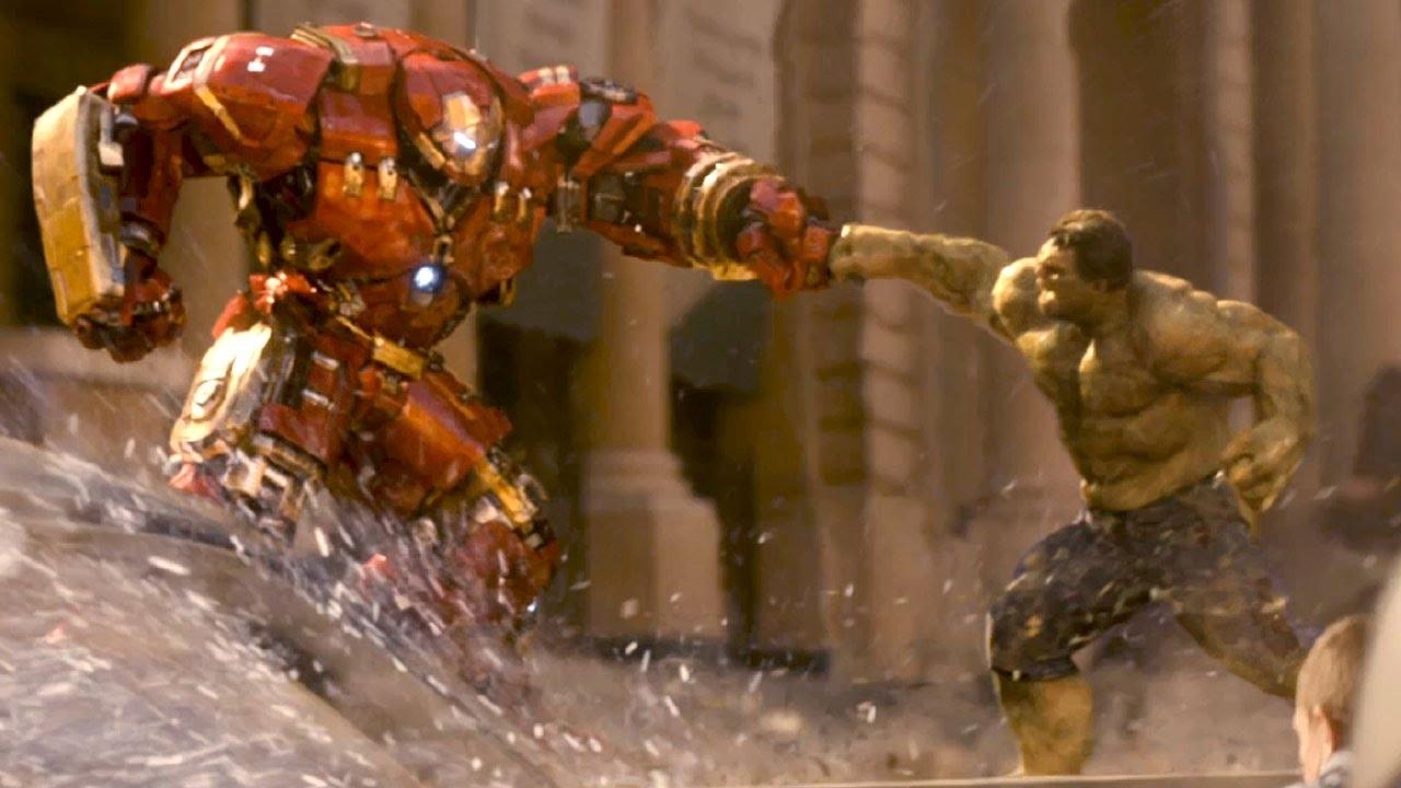 hulk versus iron man : avengers 2 extrait vf - youtube