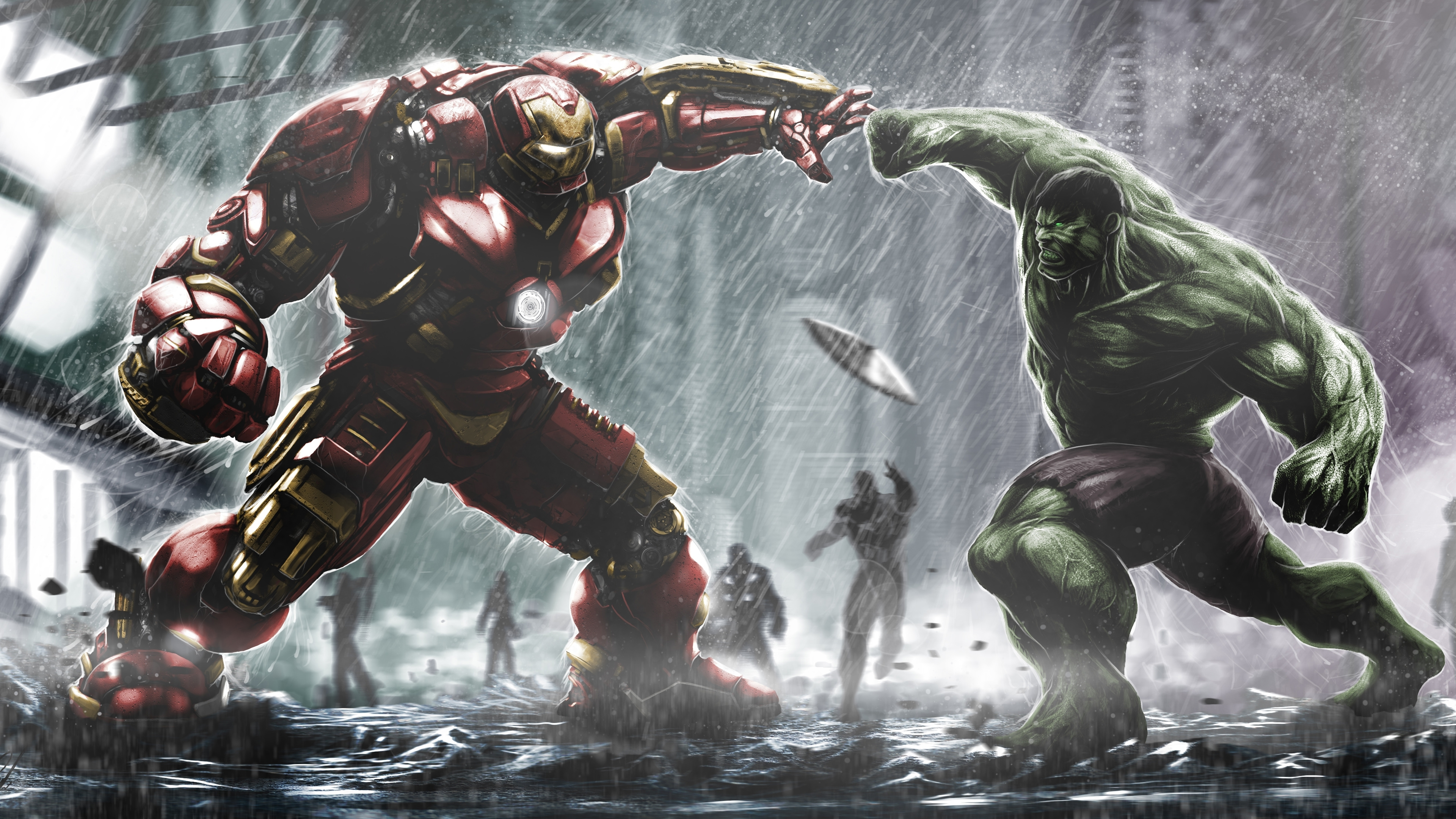 hulkbuster ironman vs hulk wallpapers | hd wallpapers | id #15586