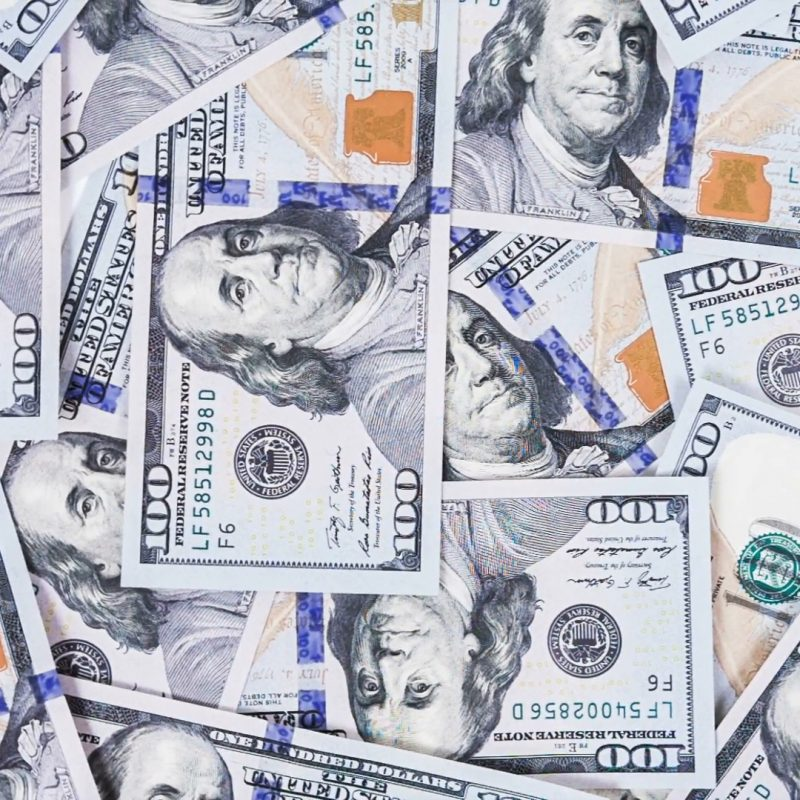 10 New 100 Dollar Bills Background FULL HD 1080p For PC Background 2020 free download hundred dollar bills for background raw video record stock video 800x800