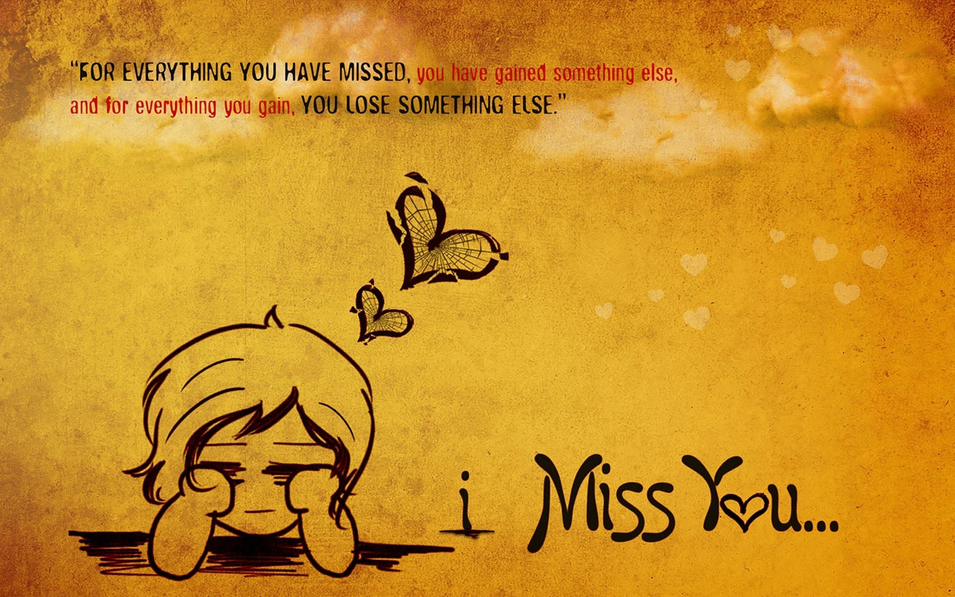 i love you and i miss you wallpaper - wallpaper rocket