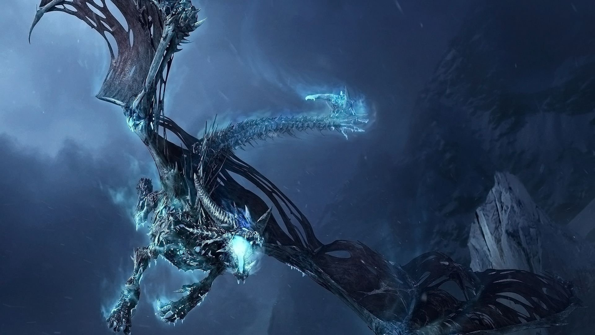 ice dragon - world of warcraft - walldevil