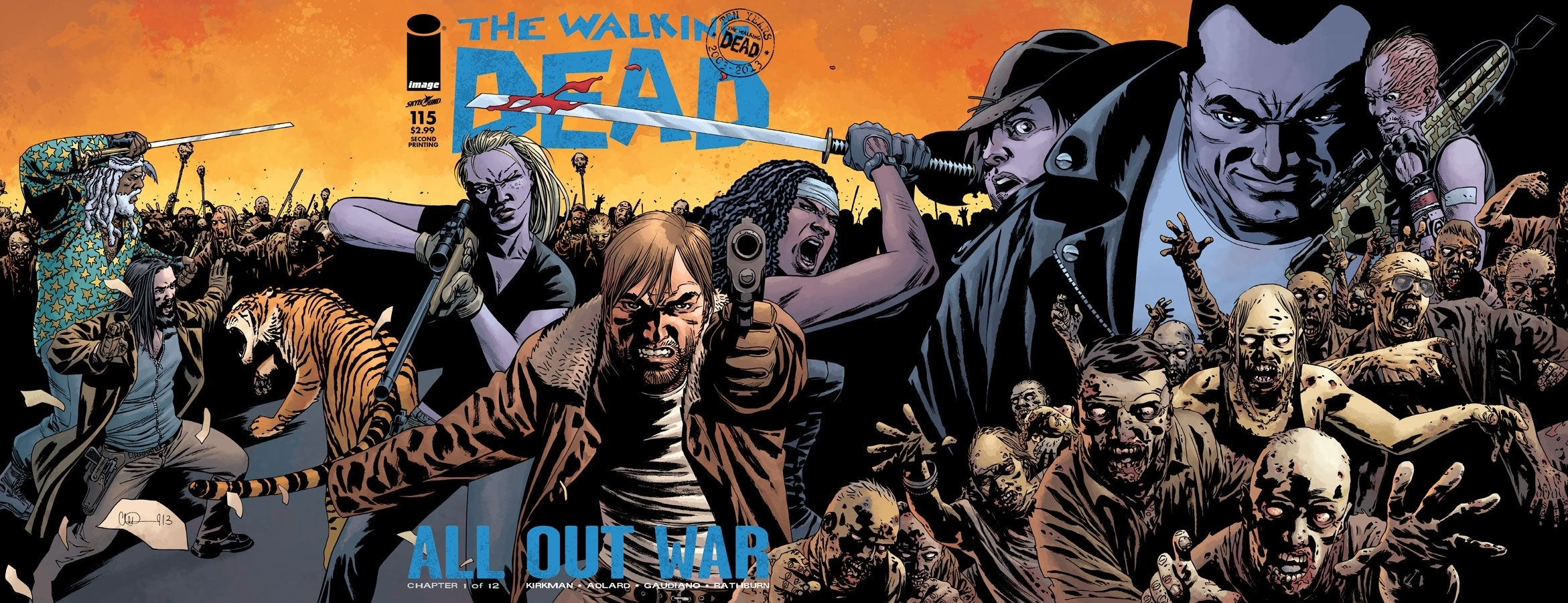 image comics | the walking dead #115 sells out of bestselling print