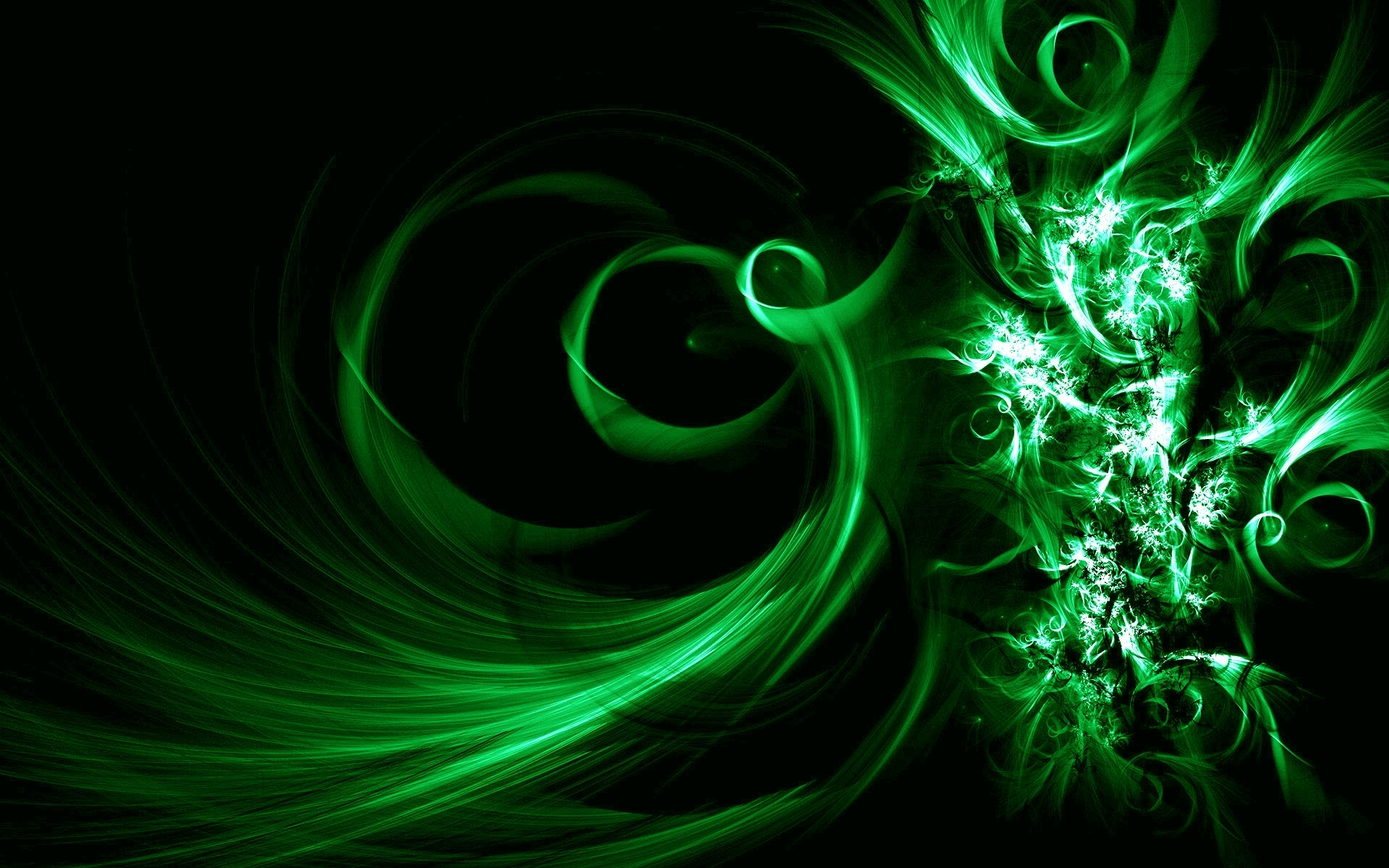 image description: this is black and green vector abstract desktop