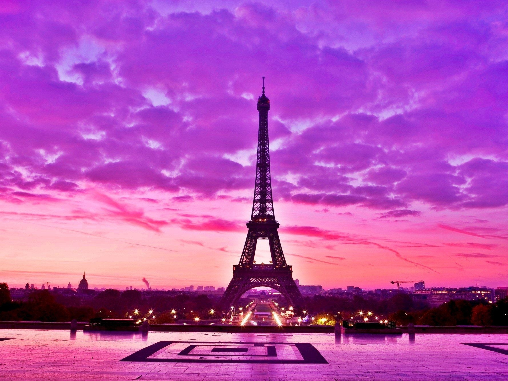 image for pink eiffel tower wallpaper | lugares para visitar | pinterest