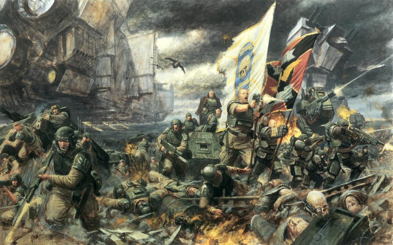 imperial guard - warhammer 40k - astra militarum - cadian shock