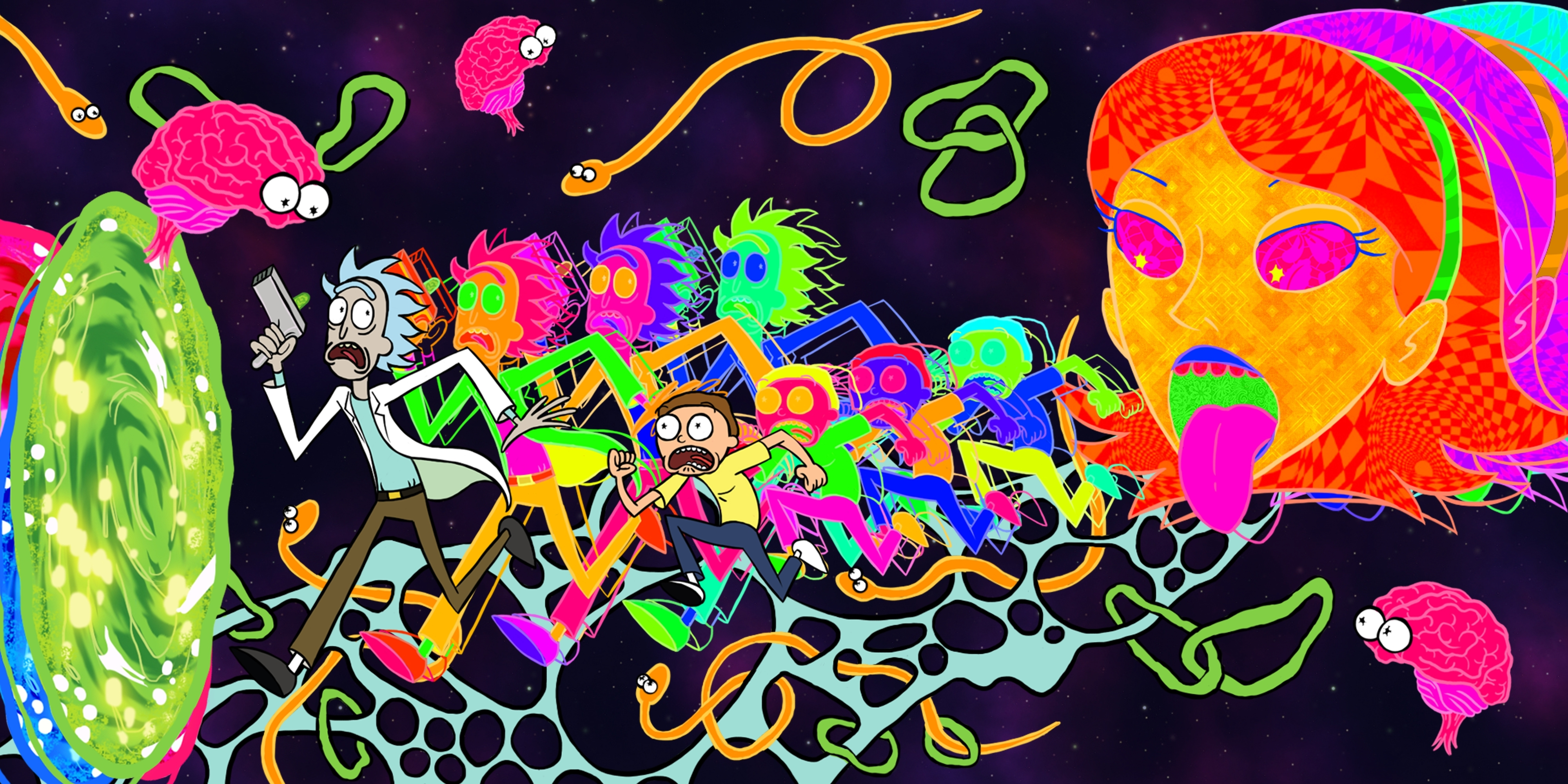 10 Top Trippy Rick And Morty Wallpaper FULL HD 1920×1080 For PC