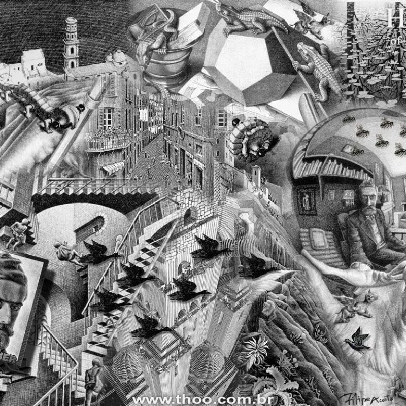 10 Latest Mc Escher Wall Paper FULL HD 1920×1080 For PC Desktop 2018 free download infinity m c escher 25365 miscellaneous art wallpaper 800x800