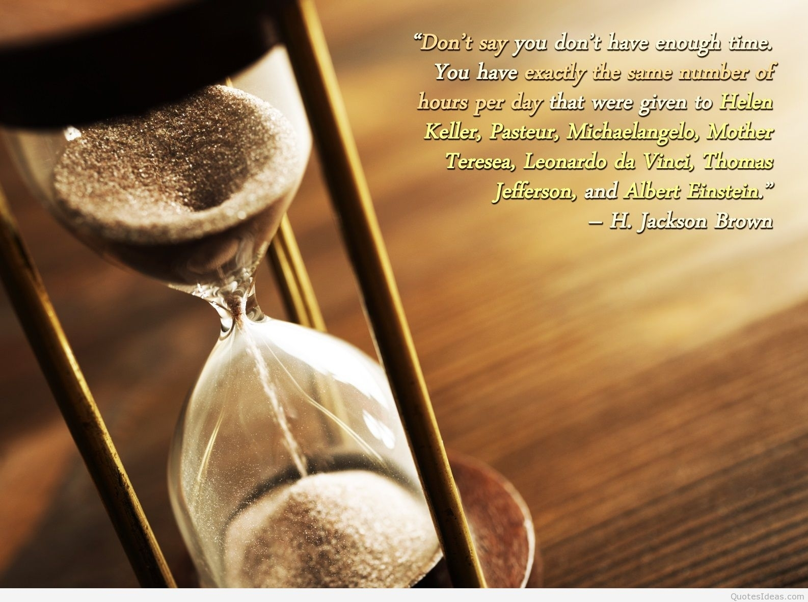 inspirational beautiful time quote hd wallpaper