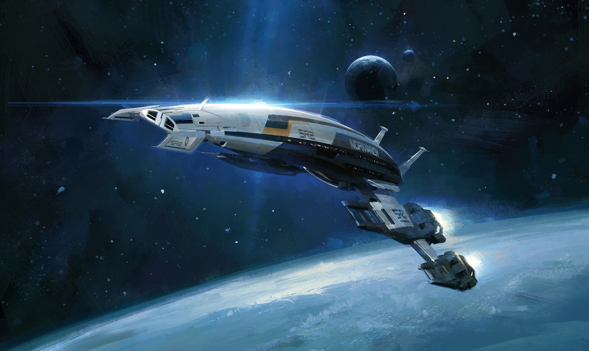 intothepixel masseffect normandy wallpaper | sci-fi | pinterest