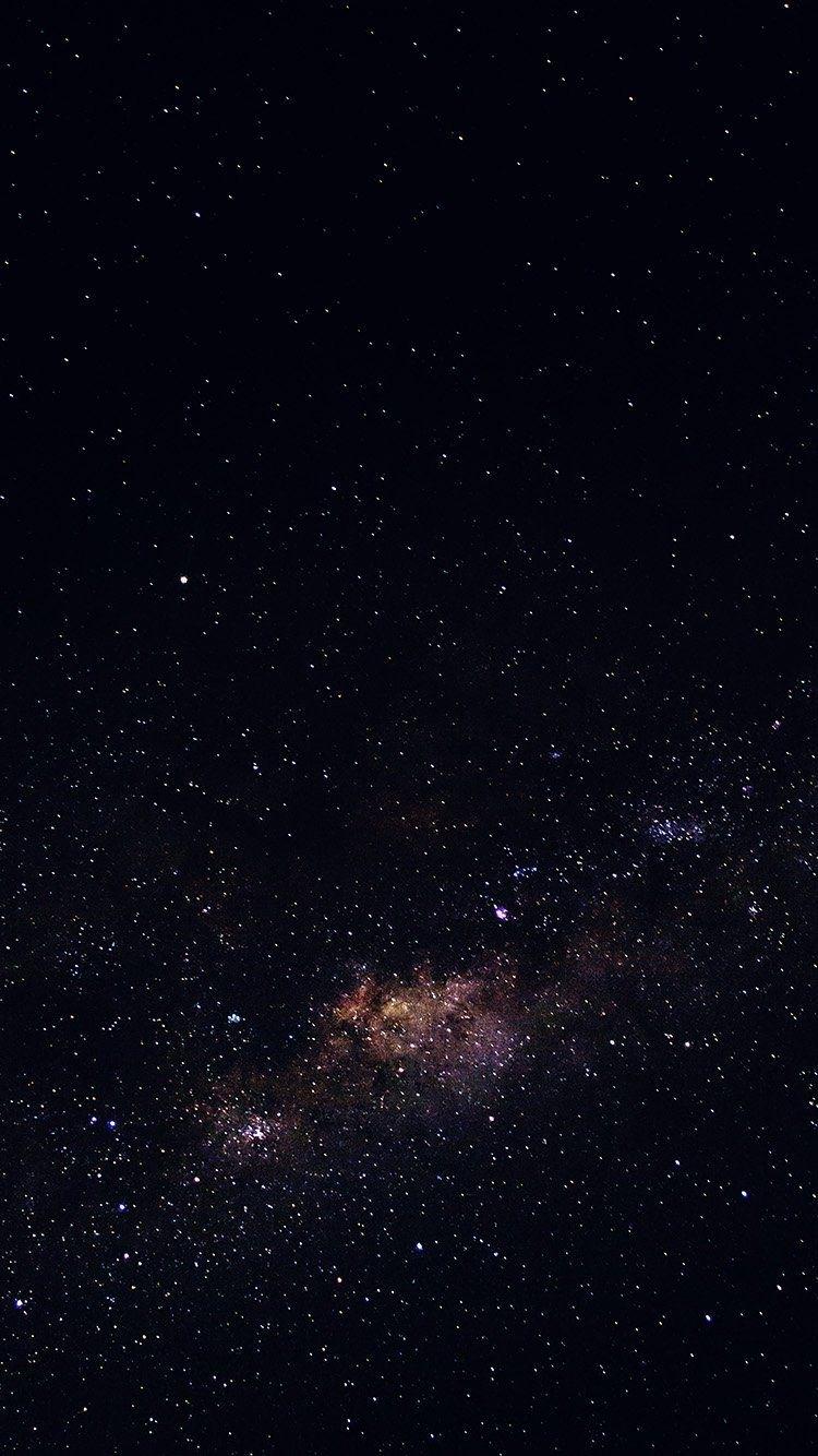iphone, stars, galaxy, space, black - wallpaper | stickers