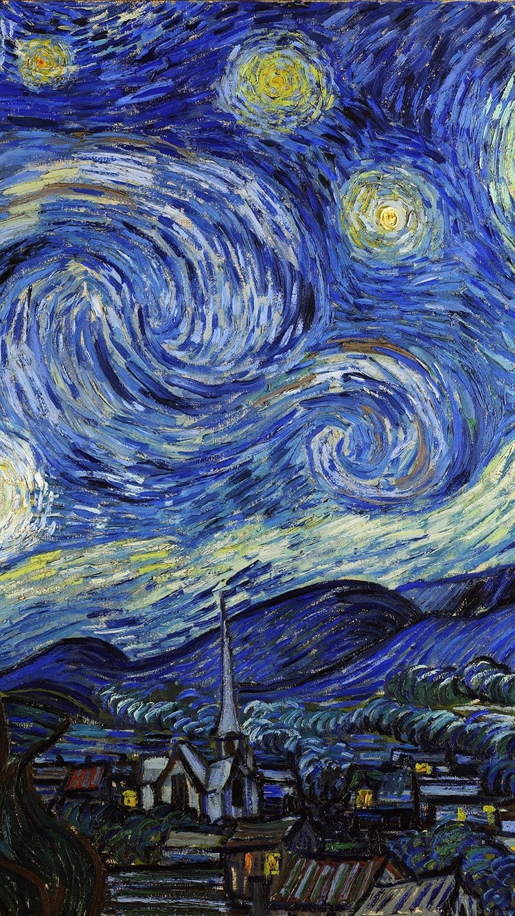 iphone6papers - aj42-vincent-van-gogh-starry-night-classic-painting