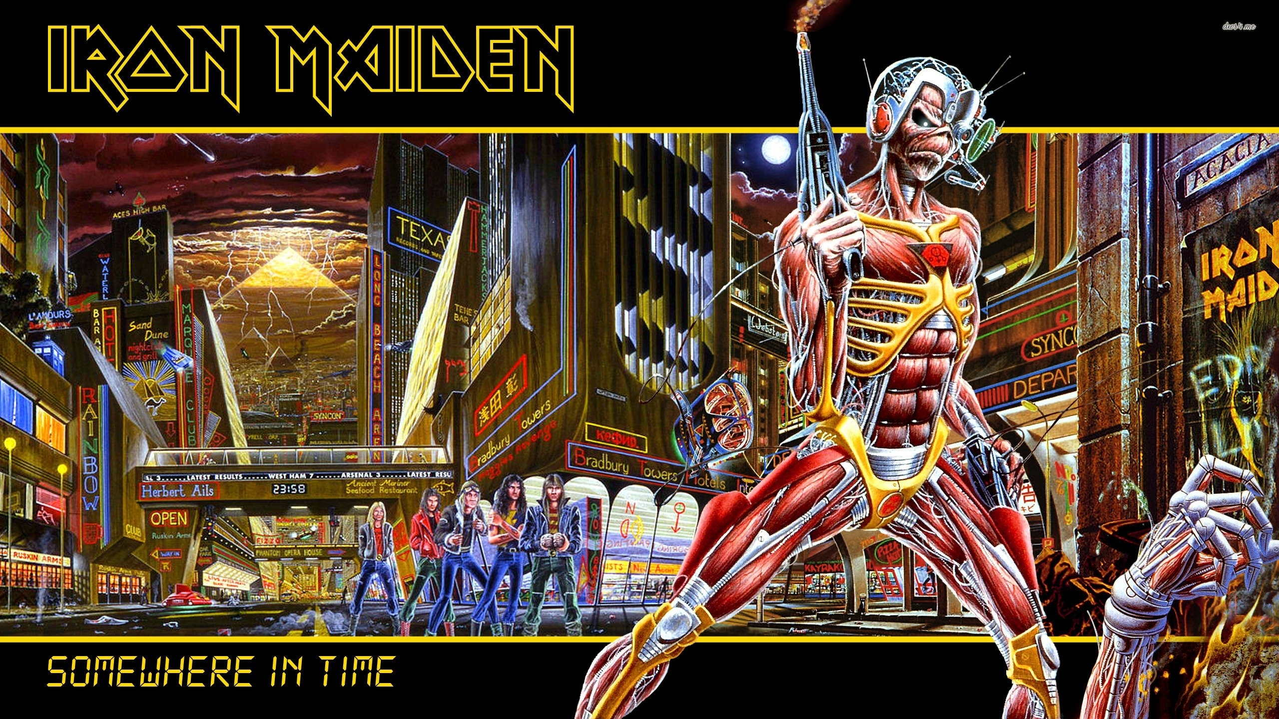 iron maiden - somewhere in time - walldevil