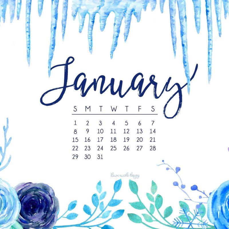 10 Most Popular January 2017 Desktop Calendar Wallpaper FULL HD 1080p For PC Desktop 2018 free download january 2017 calendar tech pretties dawn nicole designs 2 800x800