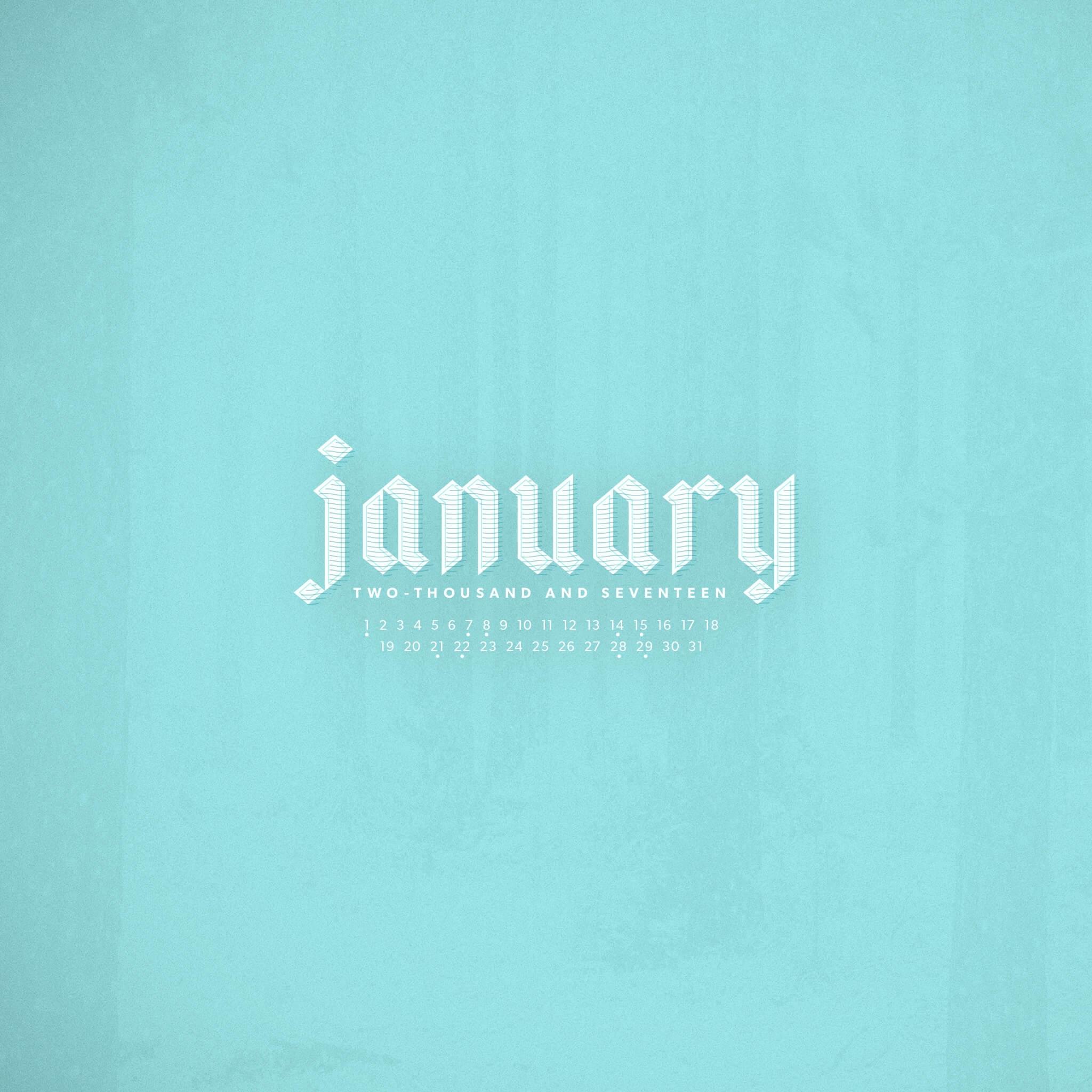 january 2017 desktop calendar wallpaper | paper leaf