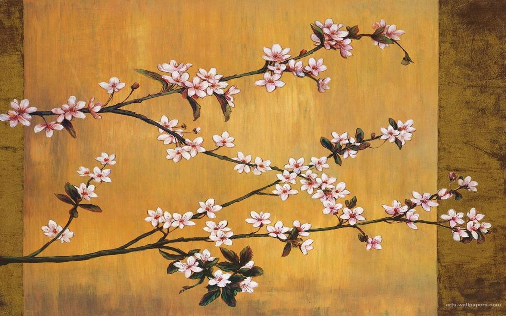 japanese painting | cherry blossoms wallpapers, paintings, art