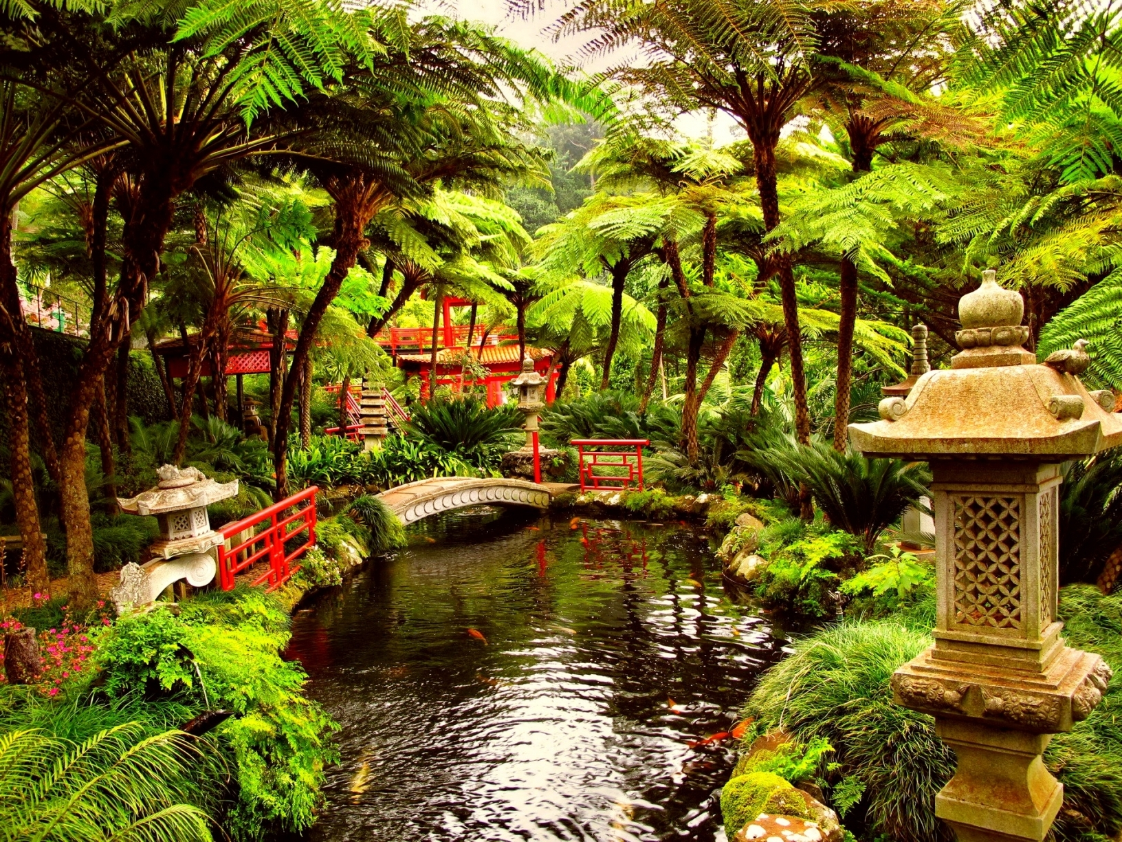japanese tea garden wallpaper