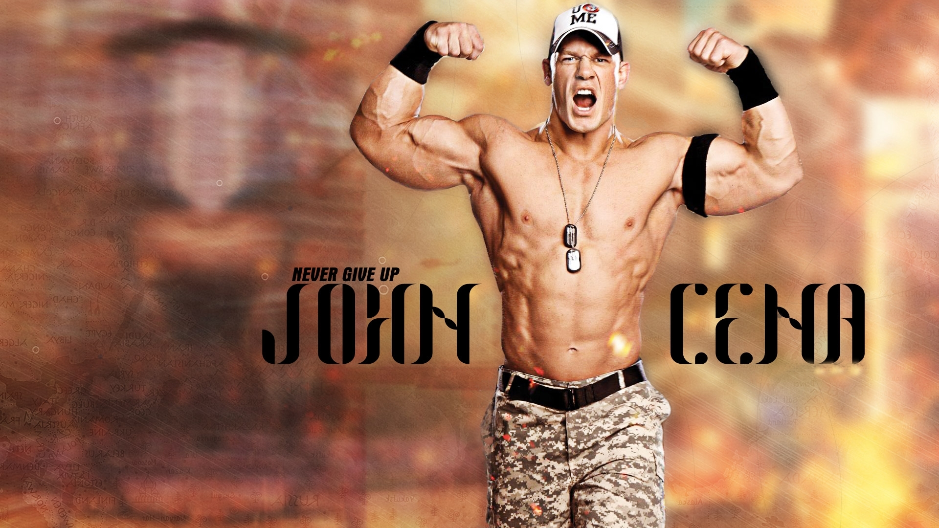 john cena never give up wallpaper desktop wallpaper | wallpaperlepi
