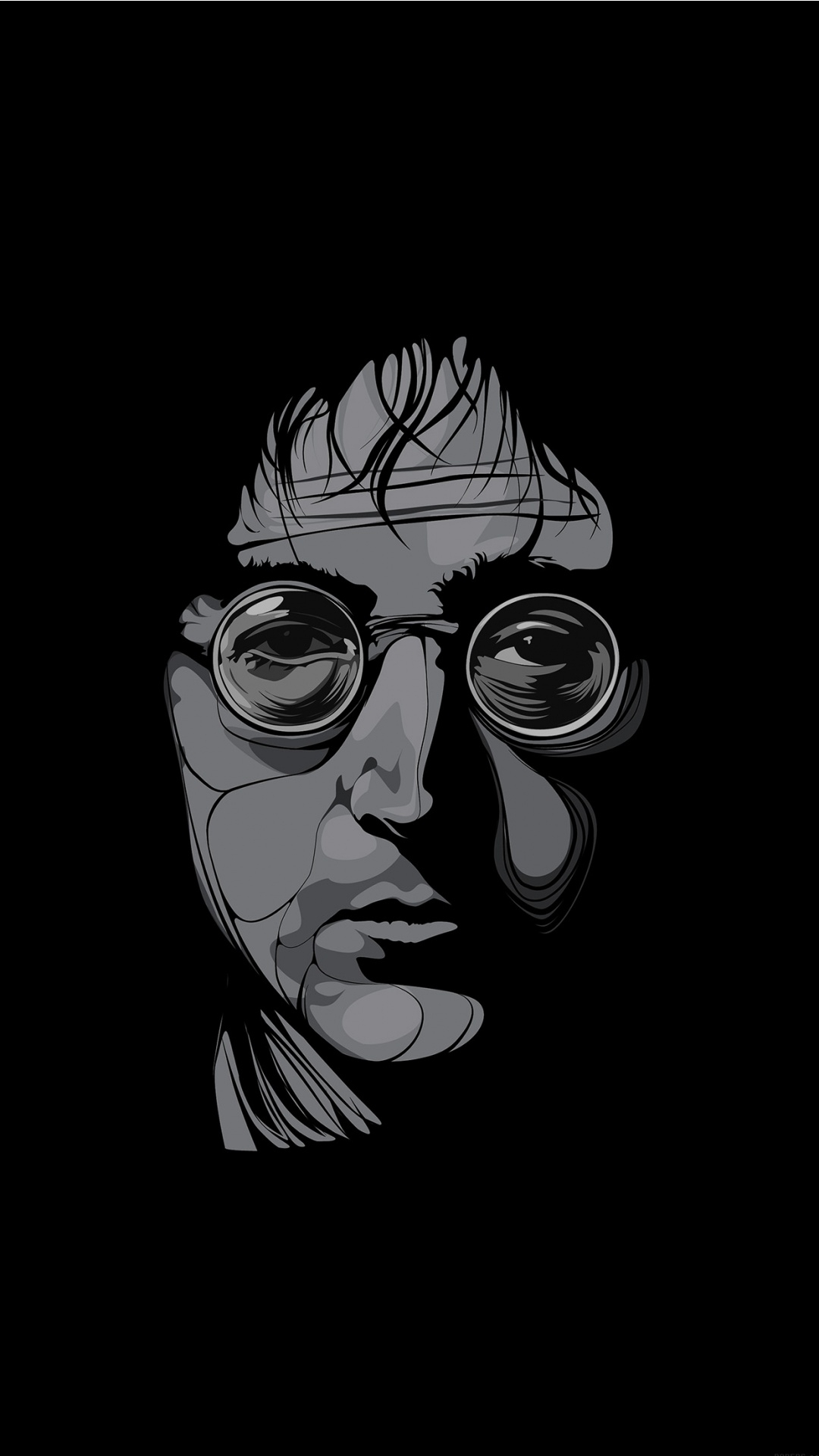 john lennon. male celebrity black and white wallpaper for iphone