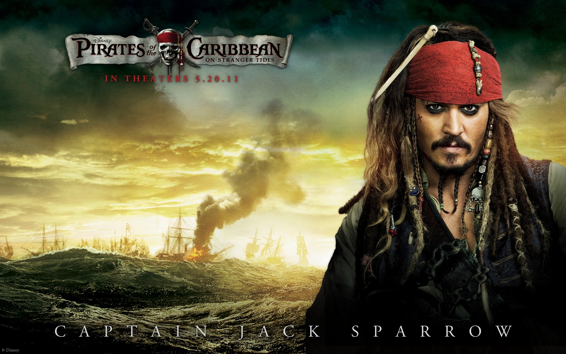 johnny depp in pirates of the caribbean 4 wallpapers | hd wallpapers