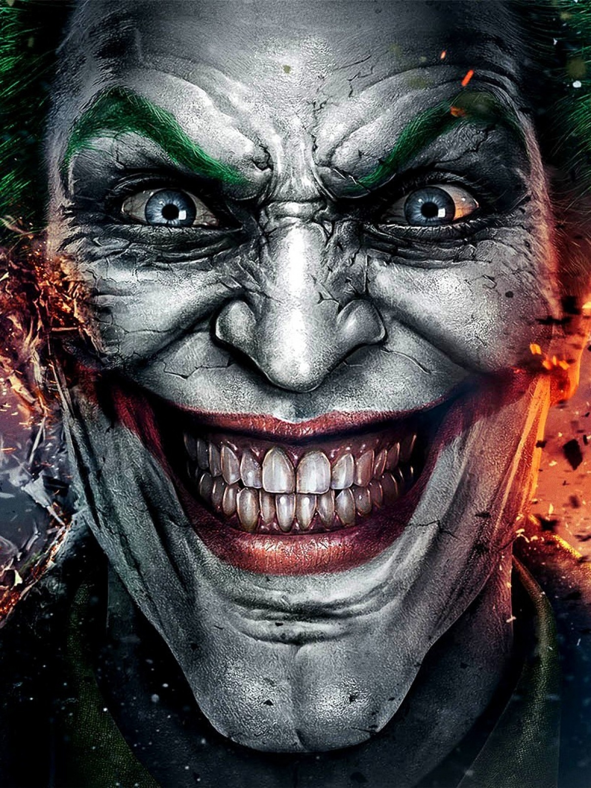 joker batman smile android wallpaper free download
