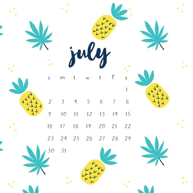 10 Best July 2017 Calendar Wallpaper FULL HD 1920×1080 For PC Desktop 2020 free download july 2017 calendar printables and tech pretties 800x800