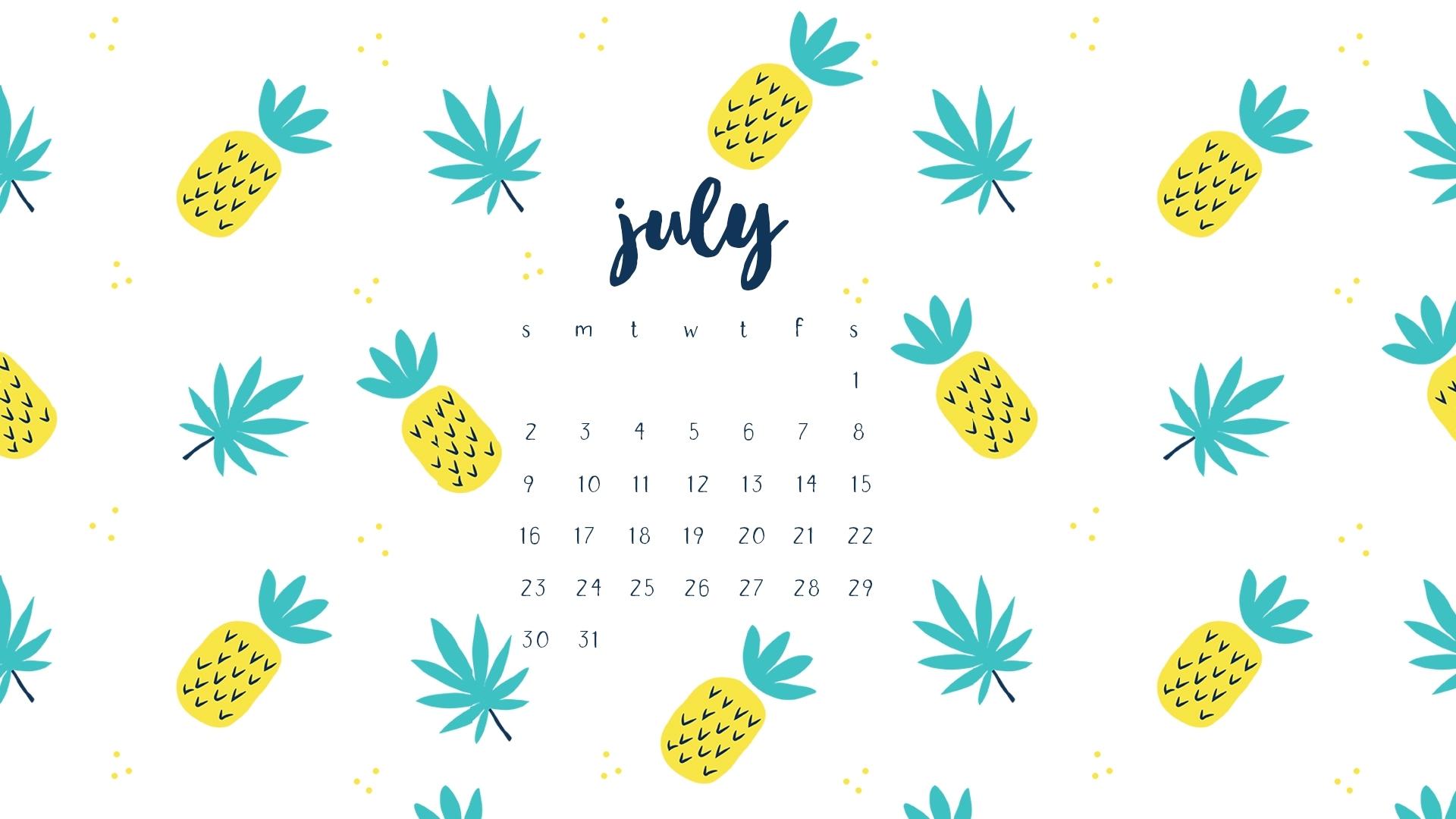 july 2017 calendar printables and tech pretties
