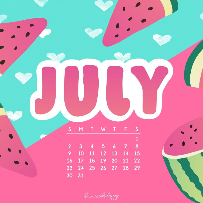 10 Best July 2017 Calendar Wallpaper FULL HD 1920×1080 For PC Desktop 2021 free download july 2017 calendar tech pretties dawn nicole designs 800x800