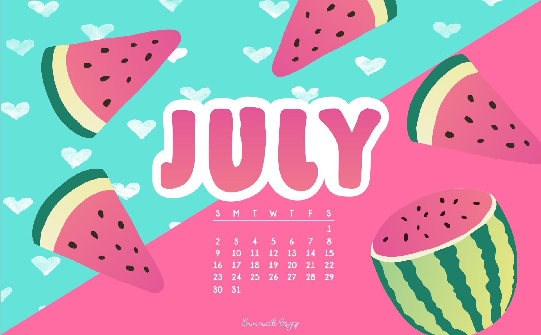 july 2017 calendar + tech pretties | dawn nicole designs®