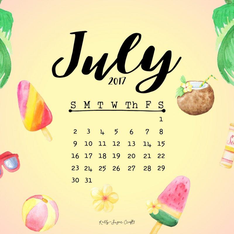 10 Best July 2017 Calendar Wallpaper FULL HD 1920×1080 For PC Desktop 2021 free download july 2017 calendar wallpapers kelly sugar crafts 800x800