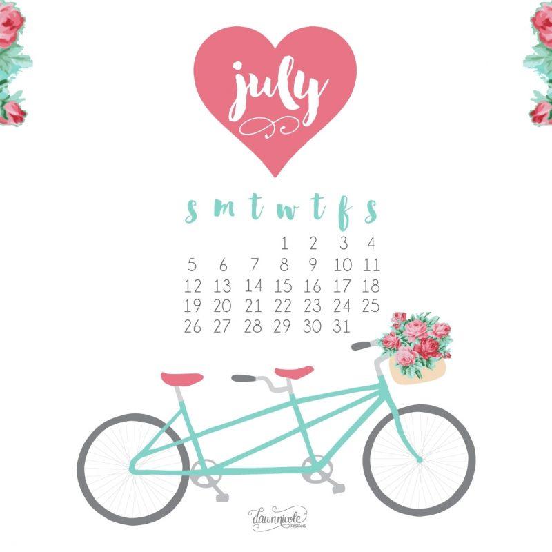 10 Best July 2017 Calendar Wallpaper FULL HD 1920×1080 For PC Desktop 2021 free download july printable calendar desktop wallpaper dawn nicole designs 800x800