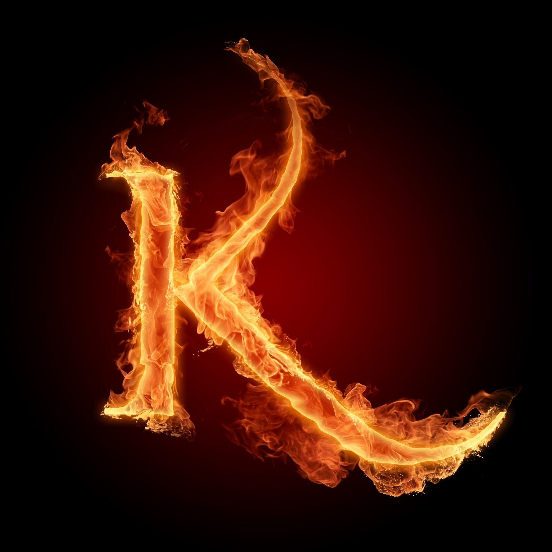 "k"" on fire 
