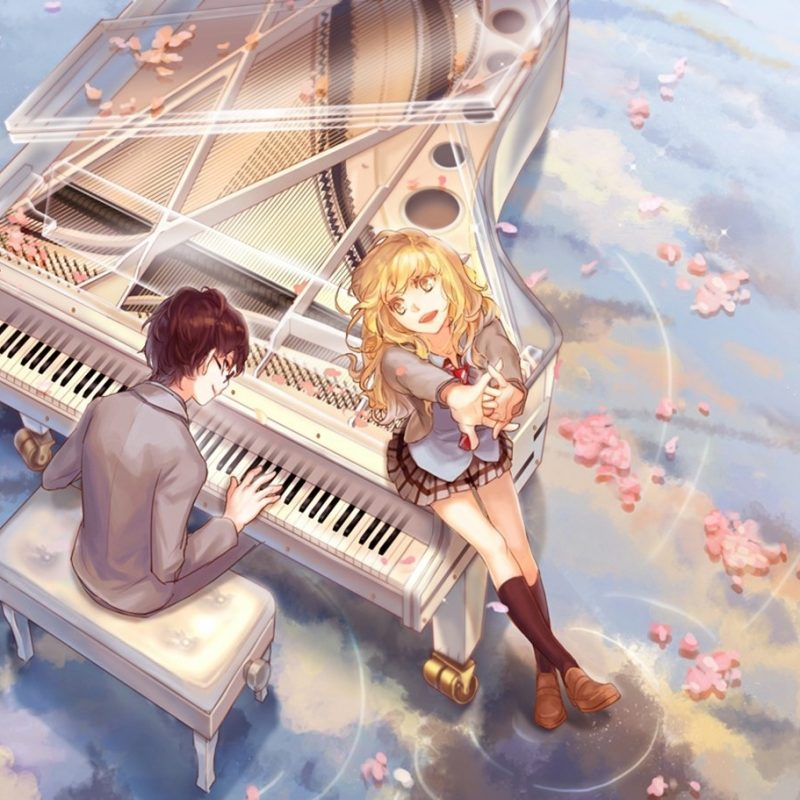 10 Most Popular Your Lie In April Kaori Wallpaper FULL HD 1080p For PC Background 2020 free download kaori and arima fond decran and arriere plan 1366x911 id636415 800x800