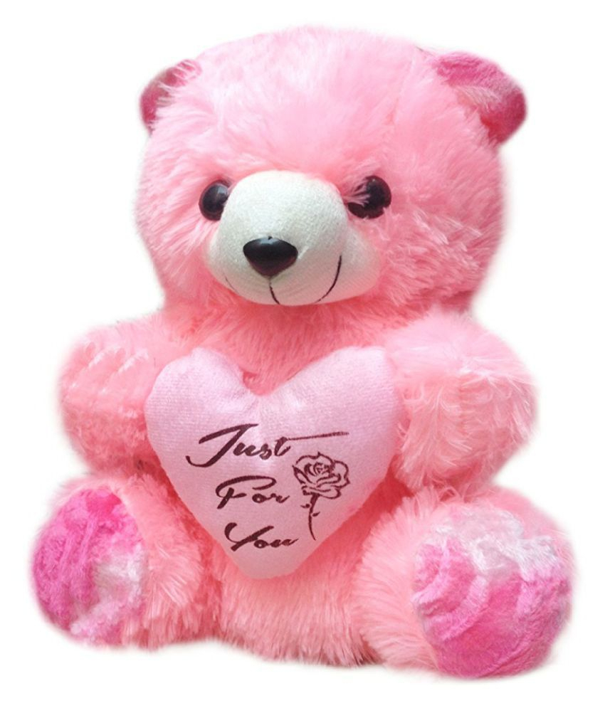 kashish toys pink cute teddy bear stuffed love soft toy for