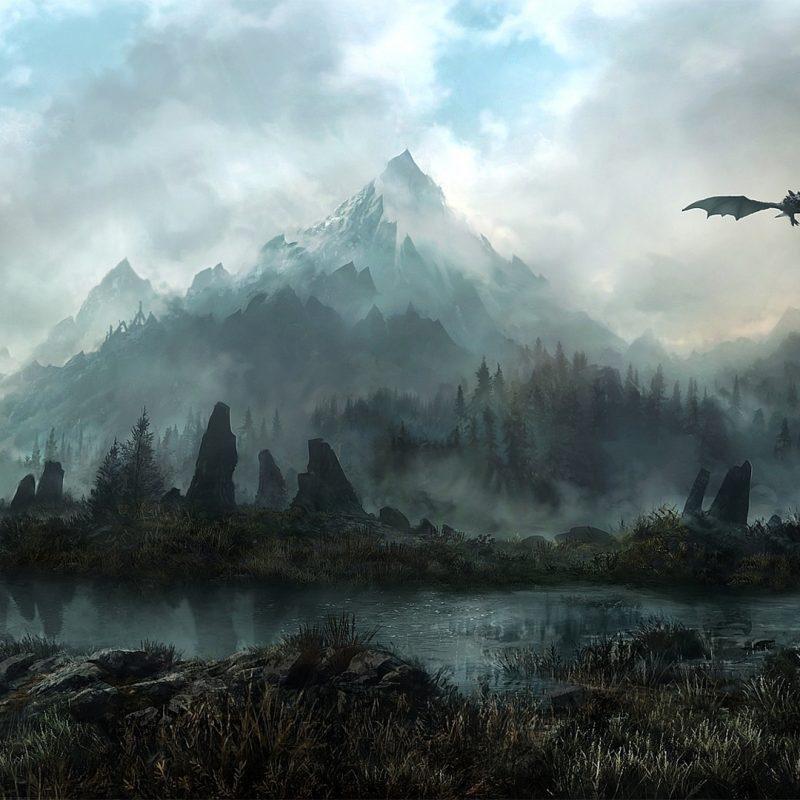 10 Top Skyrim Landscape Wallpaper Dragon FULL HD 1920×1080 For PC Desktop 2020 free download landscapes elder scrolls skyrim fantasy dragons flight mountains sky 800x800
