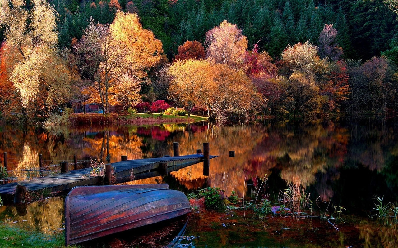 late autumn seasonal lake views photography wallpaper 12