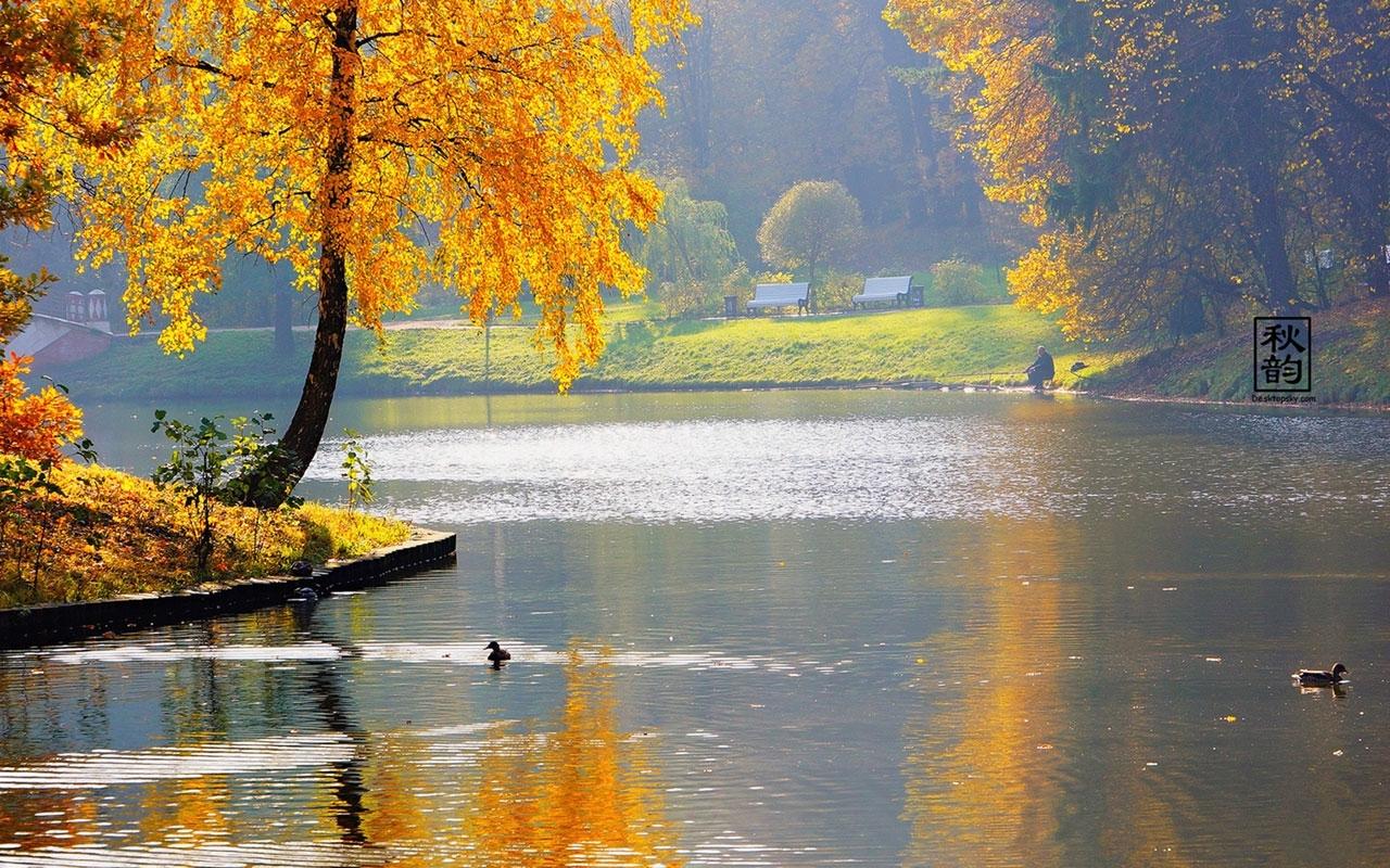 late autumn seasonal lake views photography wallpaper 6 - landscape