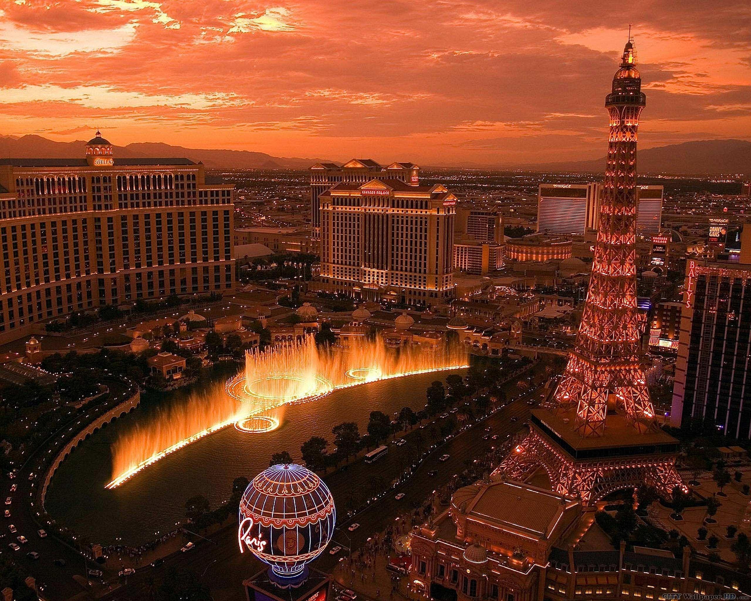 lever de soleil à las vegas. widescreen wallpaper villes du monde
