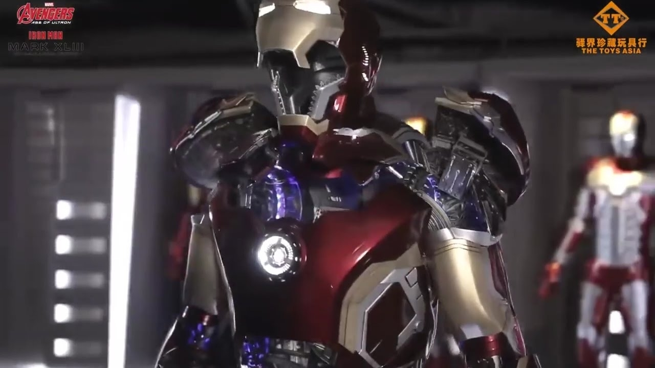 life size real iron man suit mark 43toys asia for $365,000 - youtube