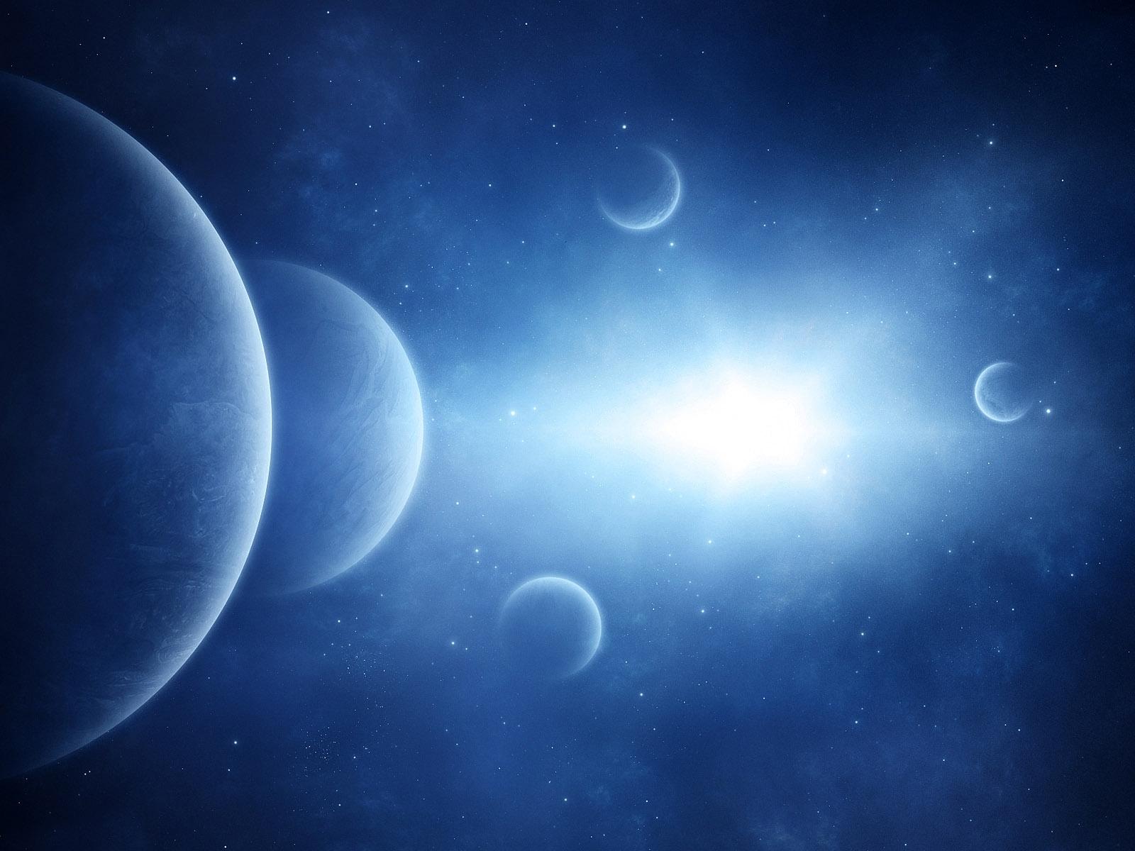 light blue space / 1600 x 1200 / fantasy / photography | miriadna